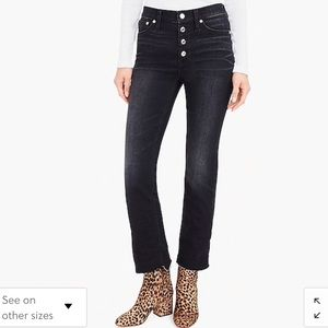 NWT J Crew Demi Boot Crop Jean Button Fly Size 30